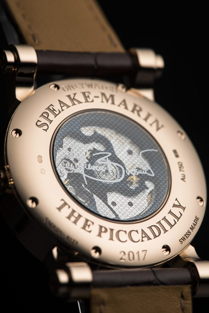The back of the Speake-Marin Love Life watch for Only Watch 2017.