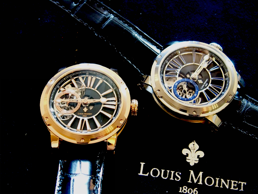 Louis Moinet Metropolis is offered in rose gold and in steel