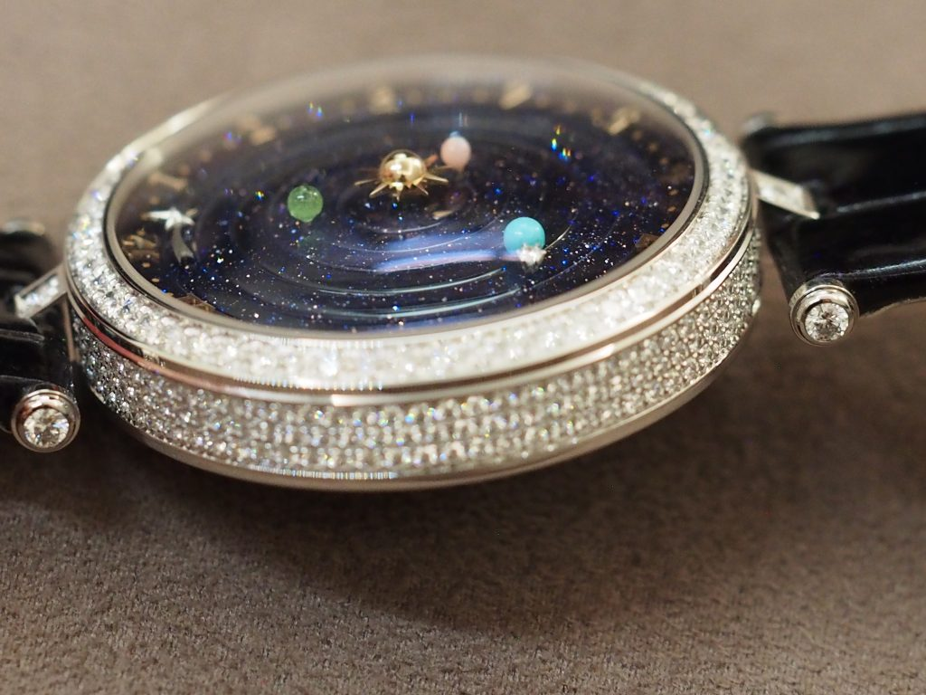The Van Cleef & Arpels Lady Arpels Planetarium watch retails for $245,000.