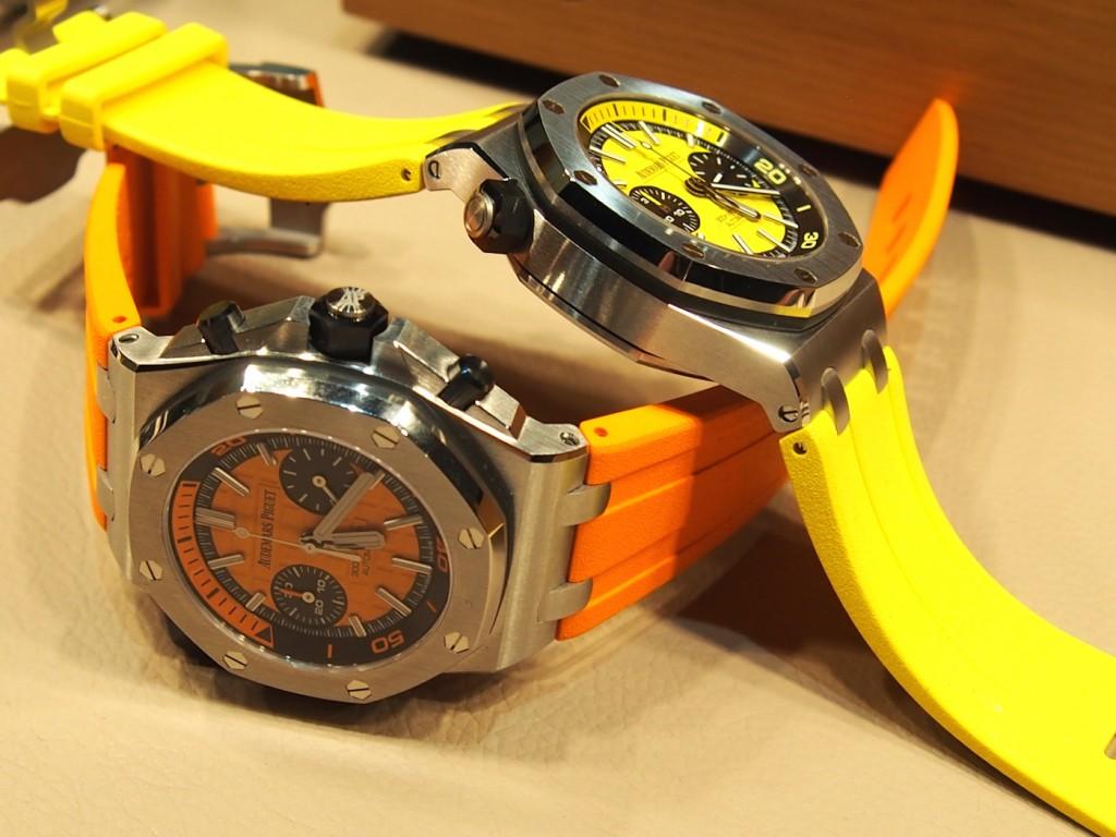 Audemars Piguet Royal Oak Offshore Diver Chronographs in bold colors