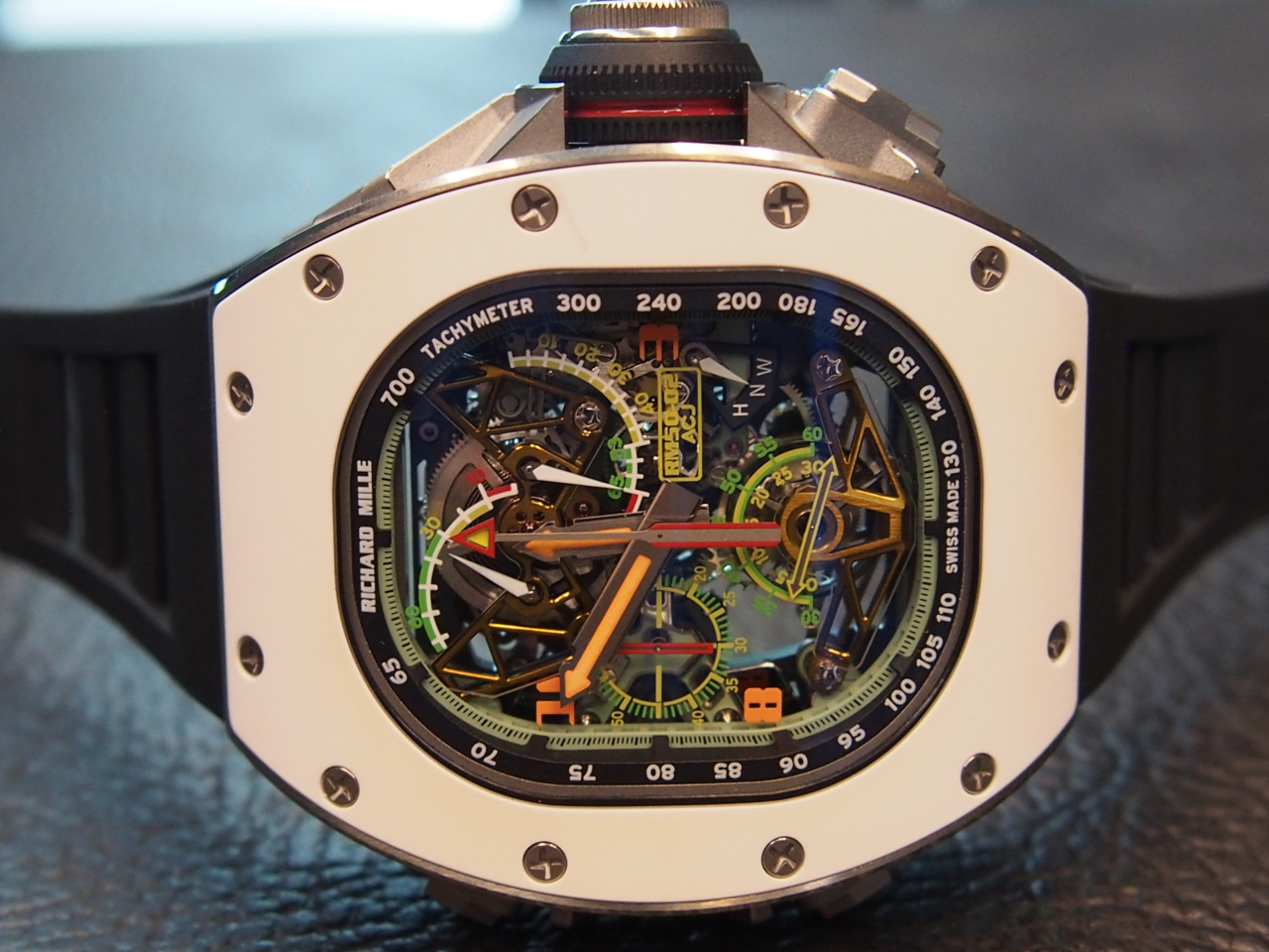 The new watch is the result of a collaboration between Mille and ACJ (Airbus)