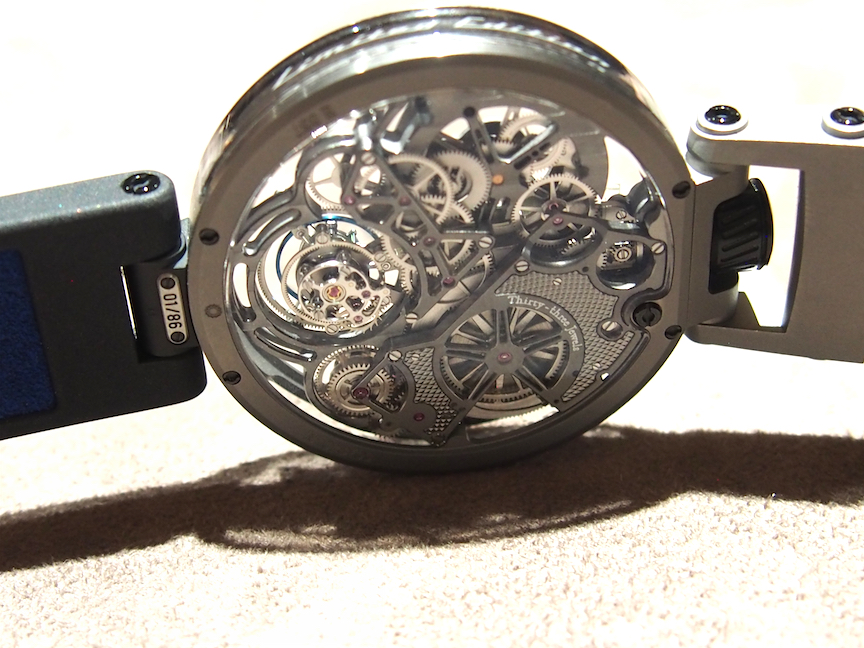 The Bovet Ottantasei Flying Tourbillon holds a patent and is created in a limited edition of 86 pieces per case metal.