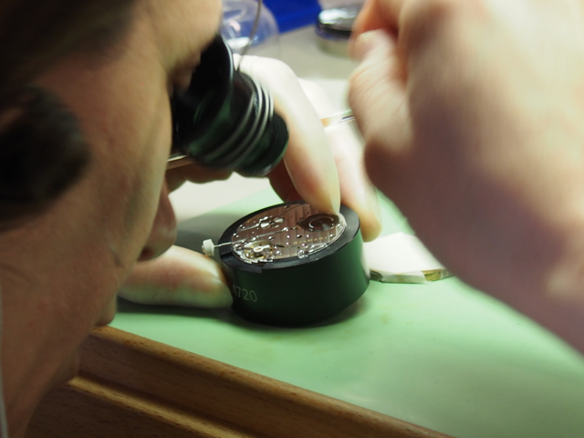 In the haute horology workshops of Bulgari, everything is done by hand. (Photo: R. Naas, ATimelyPerspective)