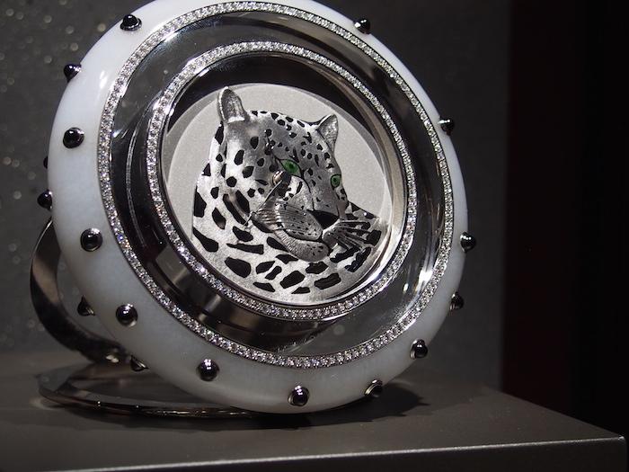 Cartier Panther motif clock