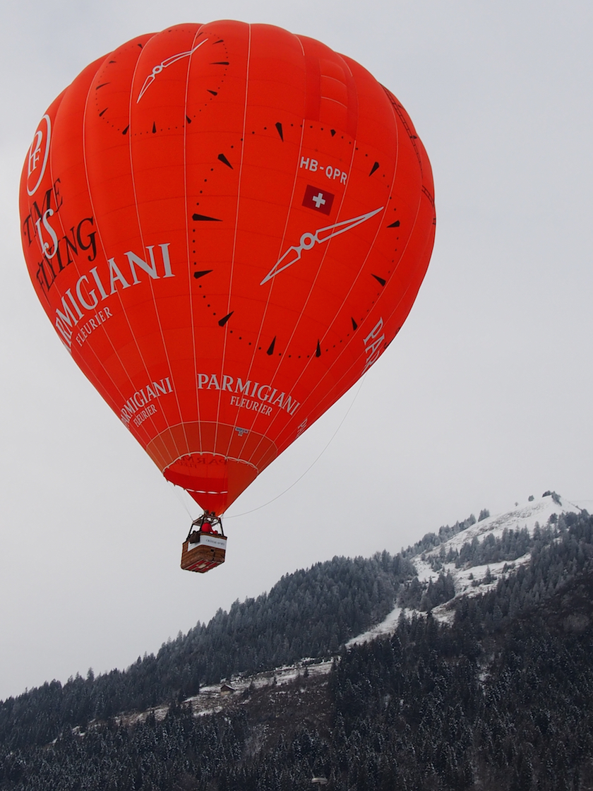 Hot air ballooning in Gstaad with Parmigiani Fleurier