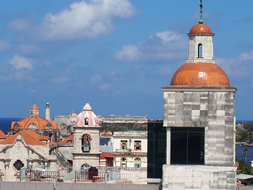 Atop the Ambos Hotel where Hemingway had a room in Old Havana, you can see the rooftops across the city. (Photo: R.Naas)