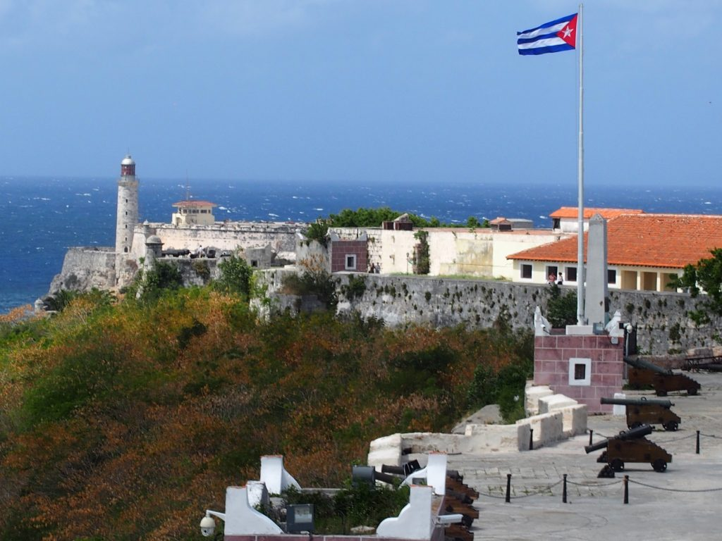 Castillo el Morro in Havana is an ancient fort and castle, that today is a museum and meeting ground.