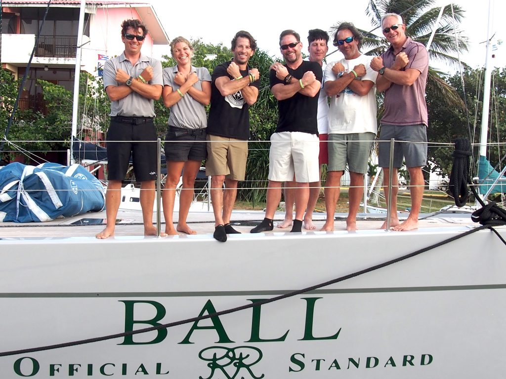 Some of the crew of GrayCious, the boat sponsored by Ball Watch USA in the St. Petersburg-Habana Regatta.