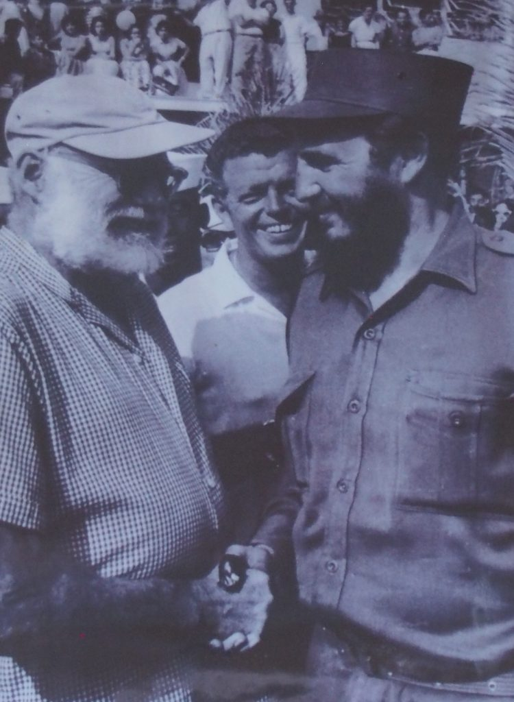 Hemingway was an avid fisherman. This photo of him is in the fishing village he frequented.