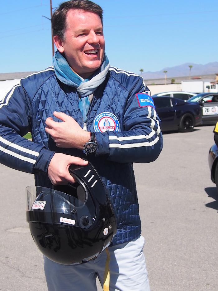Baume & Mercier CEO, Alain Zimmermann at the track.