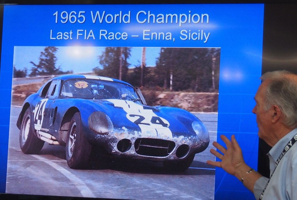The Daytona Coupe won the 1965 World Championship FIA race.