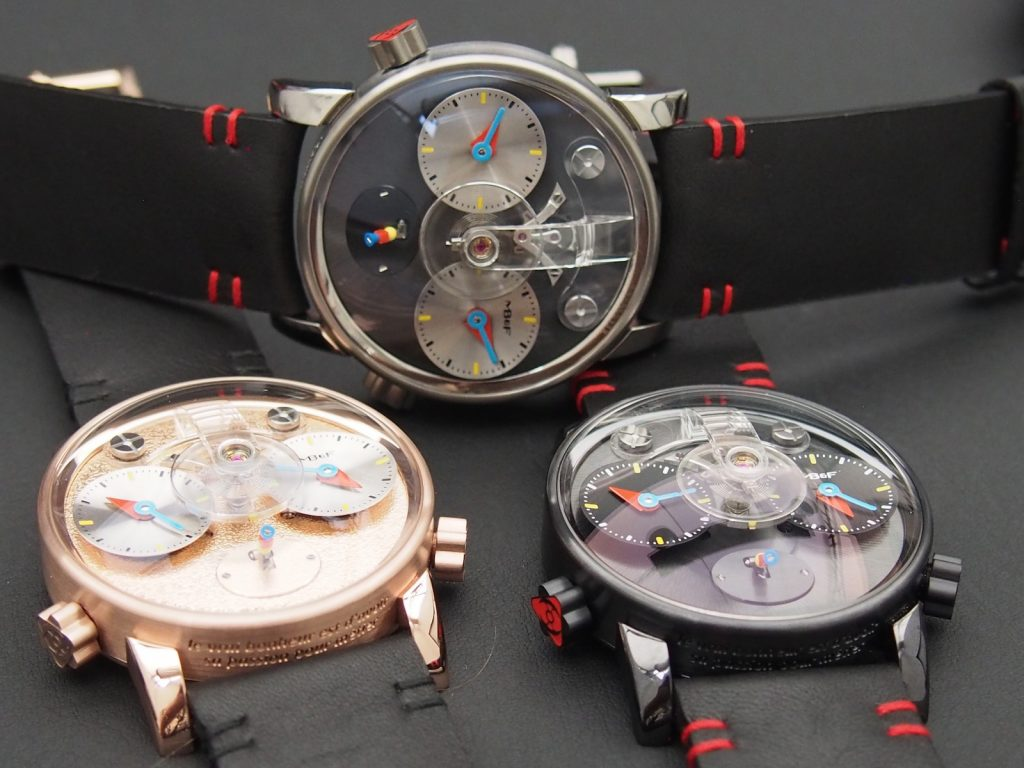 The new MB&F LM1 Silberstein is offered in several materials. (Photo: R.Naas, ATimelyPerspective)