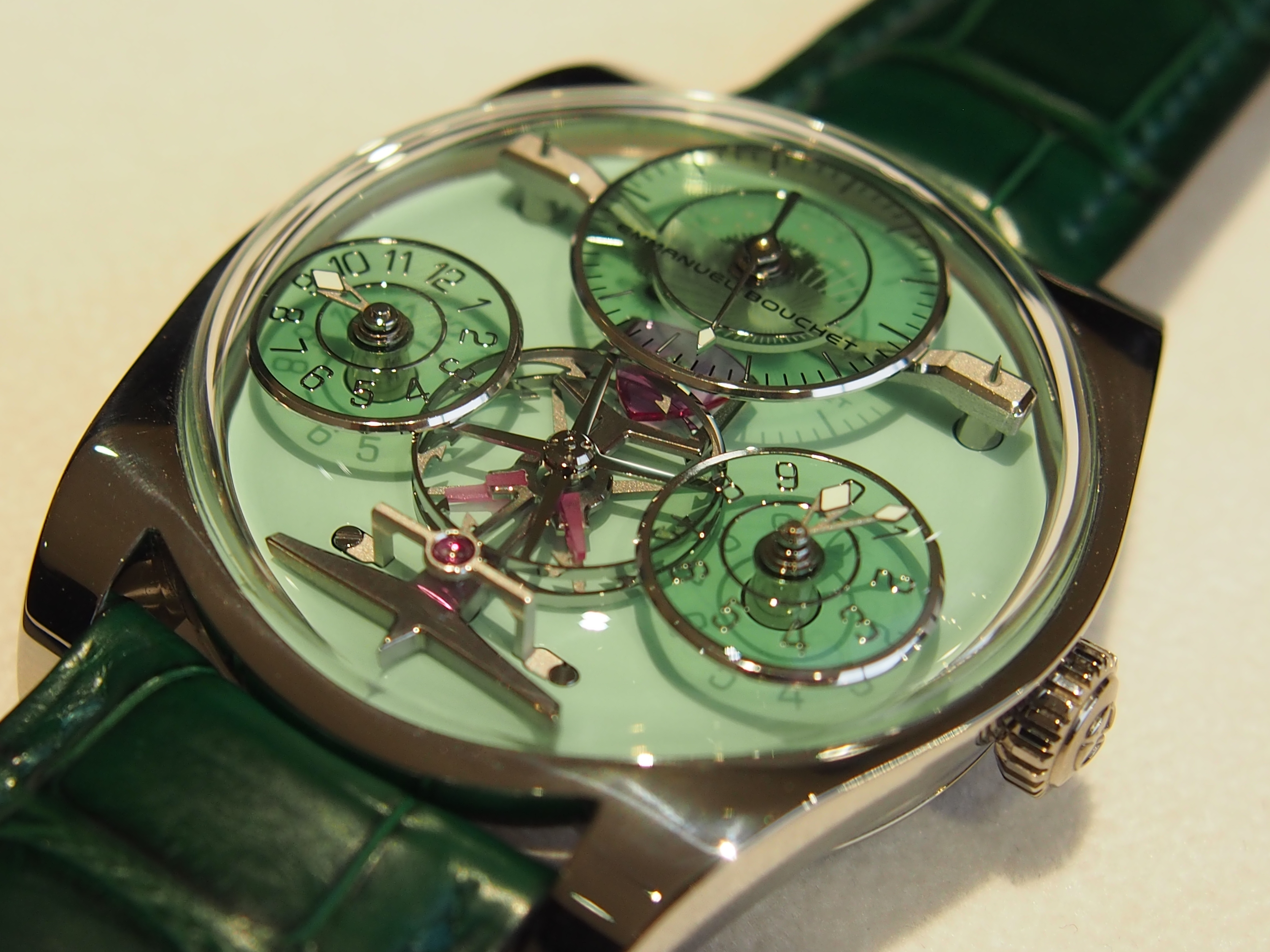 Green Sapphire disks Complication One