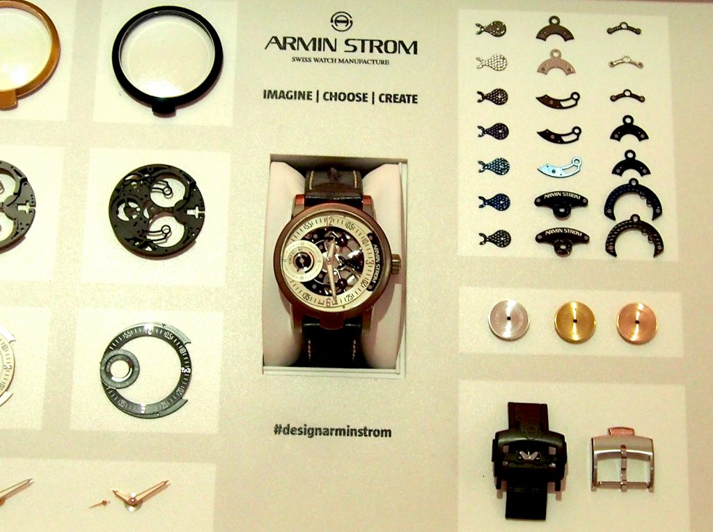 The choices for customization your Armin Strom Watch via the Watch Configurator run the gamut from component parts to strap and even stitching.