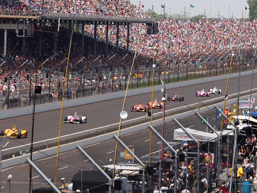 At Indy 500 with TAG Heuer