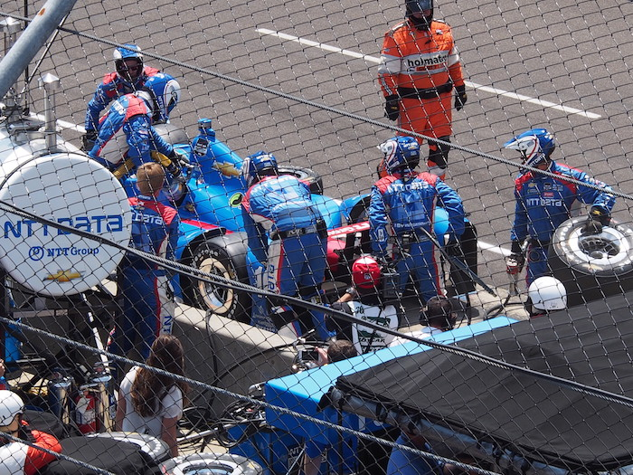 The pits, where tires are changed in seconds, and where a stop could mean the difference between a win or loss