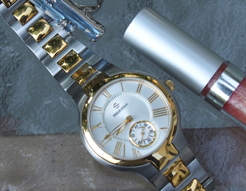 The Philip Stein Classic Collection Natural Frequency Technology watch I wore retails for $800.