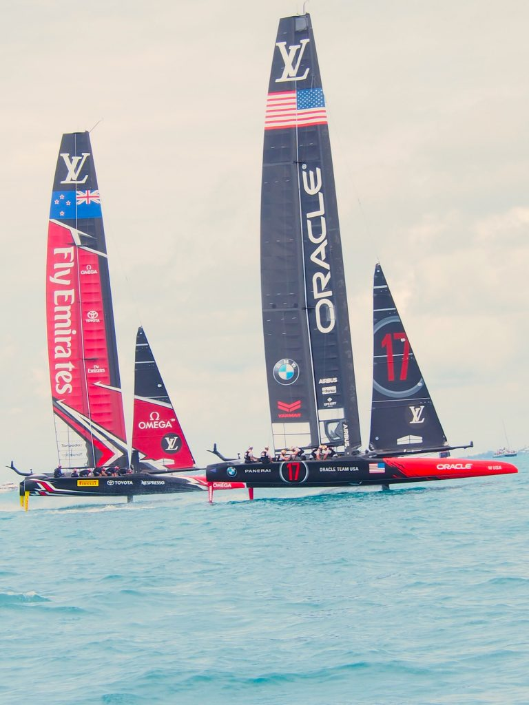 35th America's Cup in Bermuda with Bremont Watches. It all came down to Defender Oracle Team USA against Challenger Emirates Team New Zealand, who eventually took the Cup.