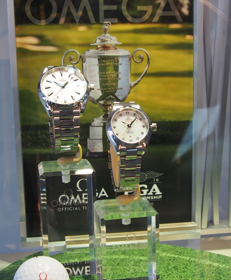 Omega is the Official Timekeeper of the PGA Golf Championship, including the event this weekend in Springfield, NJ
