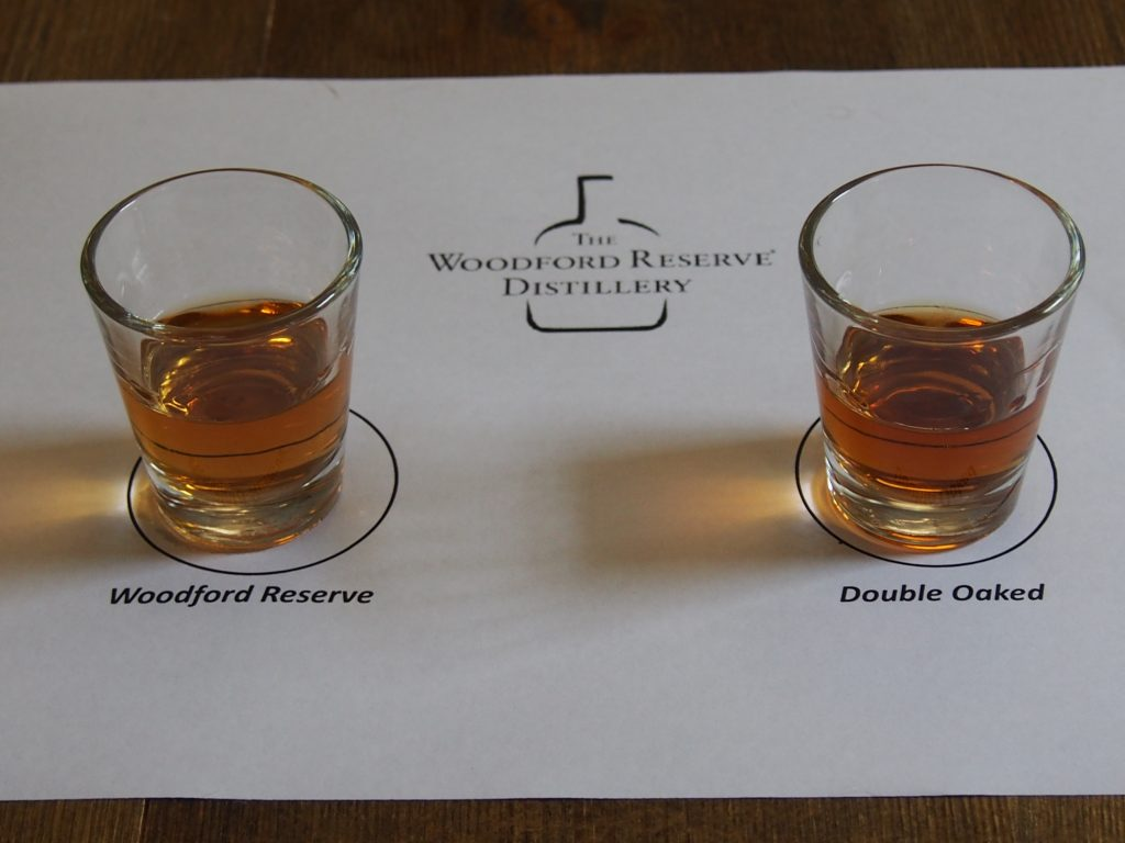 Bourbon tasting at Woodford Reserve
