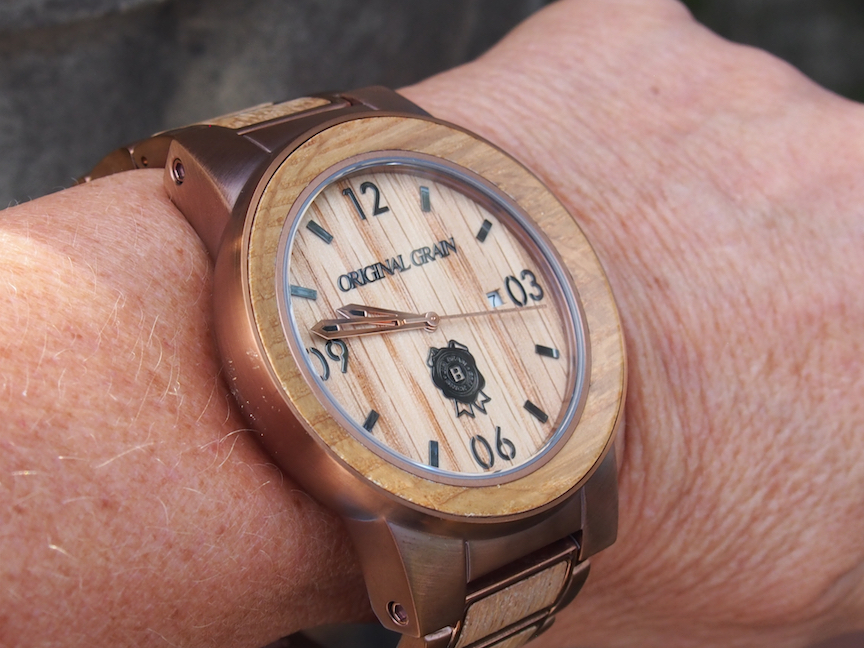 The Original Grain Jim Beam watch is big and hefty but packs a powerful punch when it comes to looks.