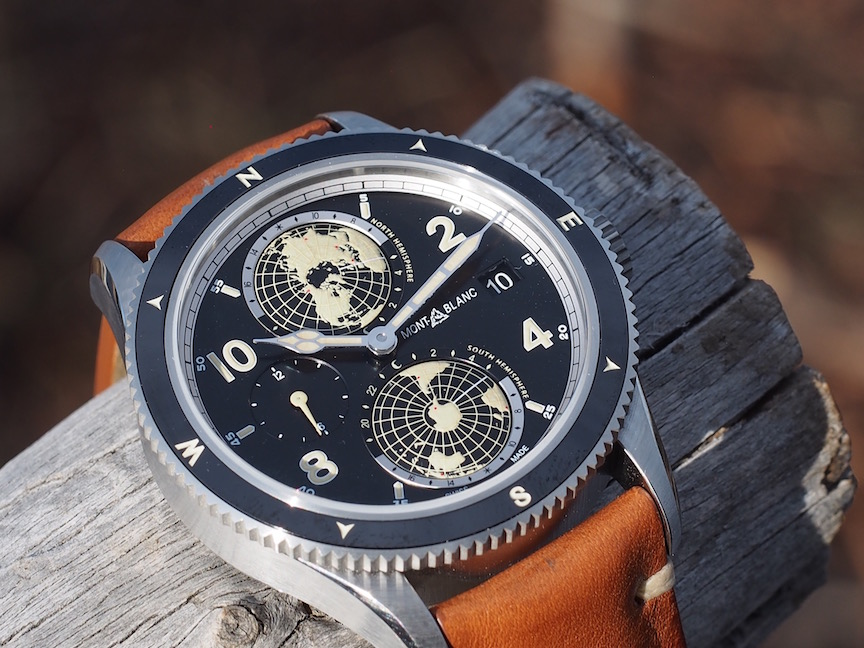 The Montblanc 1858 Geosphere is also being made in stainless steel.