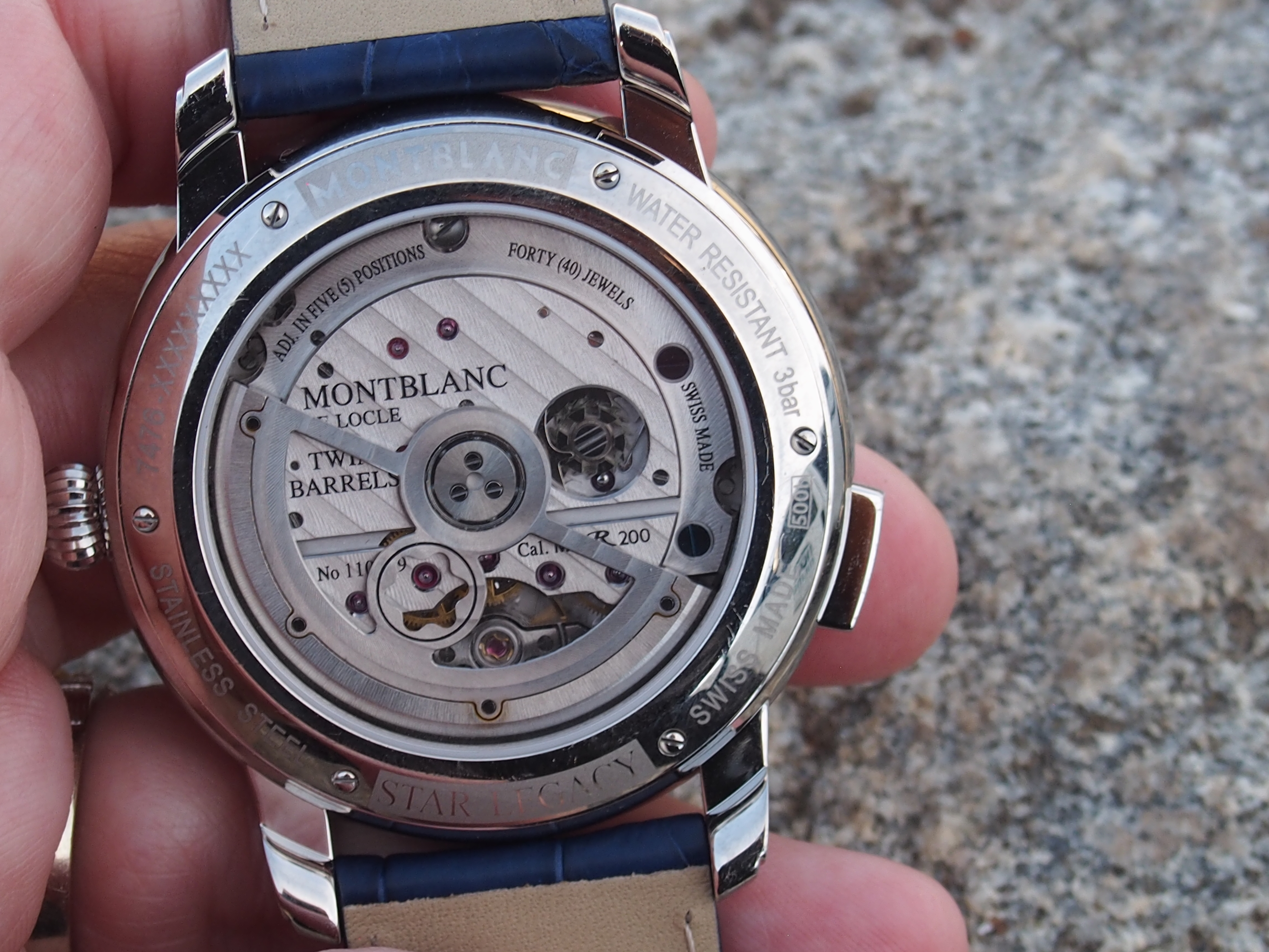 The Montblanc Star Legacy Nicolas Rieussec Chronograph has twin barrels and offers 72 hours of power reserve.