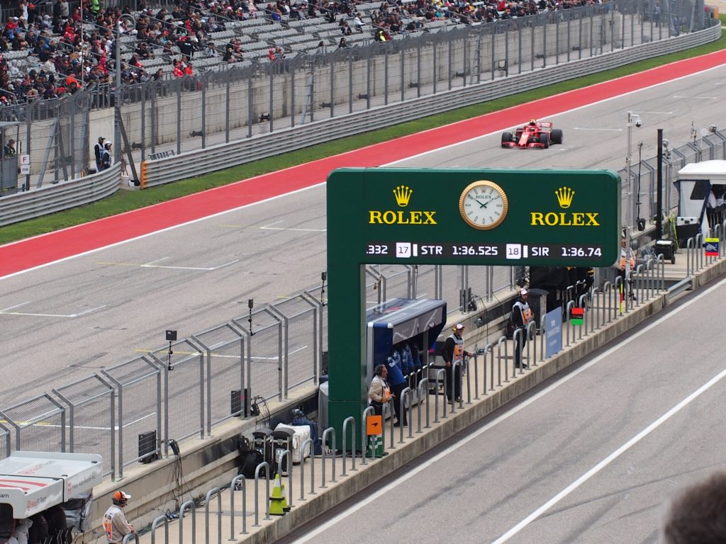 AT COTA with Rolex for the Formula 1 Pirelli 2018 United States Grand Prix