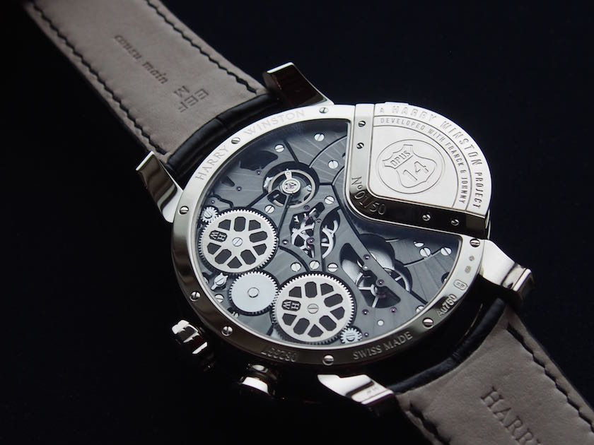 The movement of Opus 14 is visible via a transparent casebook, where the power reserve can also be seen (photo: R.Naas)