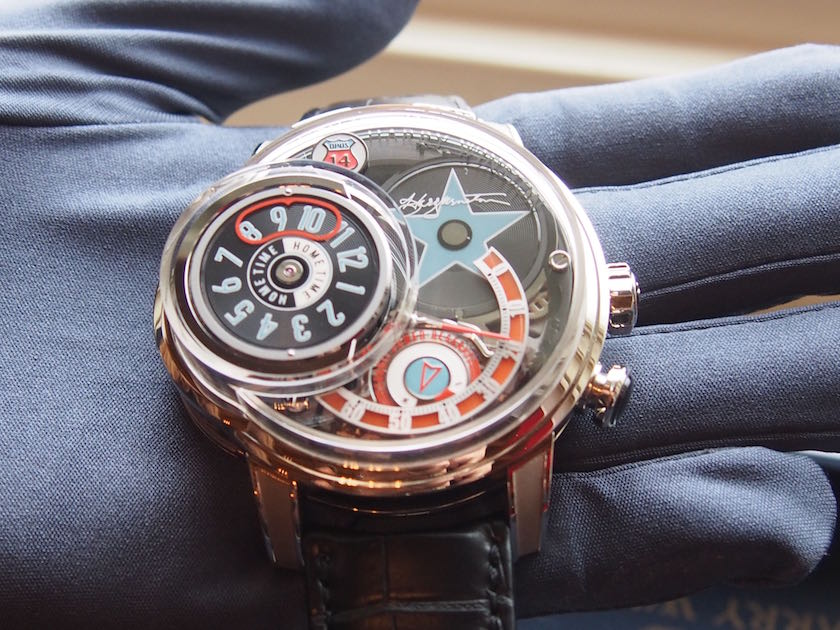 Close up look at the Harry Winston Opus 14- a celebration of rock n' roll and the jukebox era