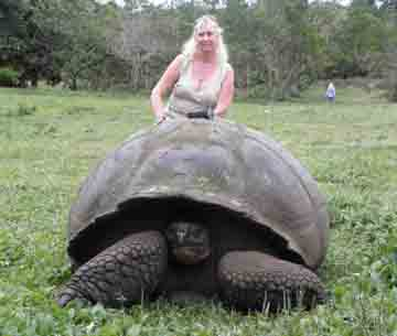 ATimelyPerspective's founder, Roberta Naas, in the Galapagos with IWC.