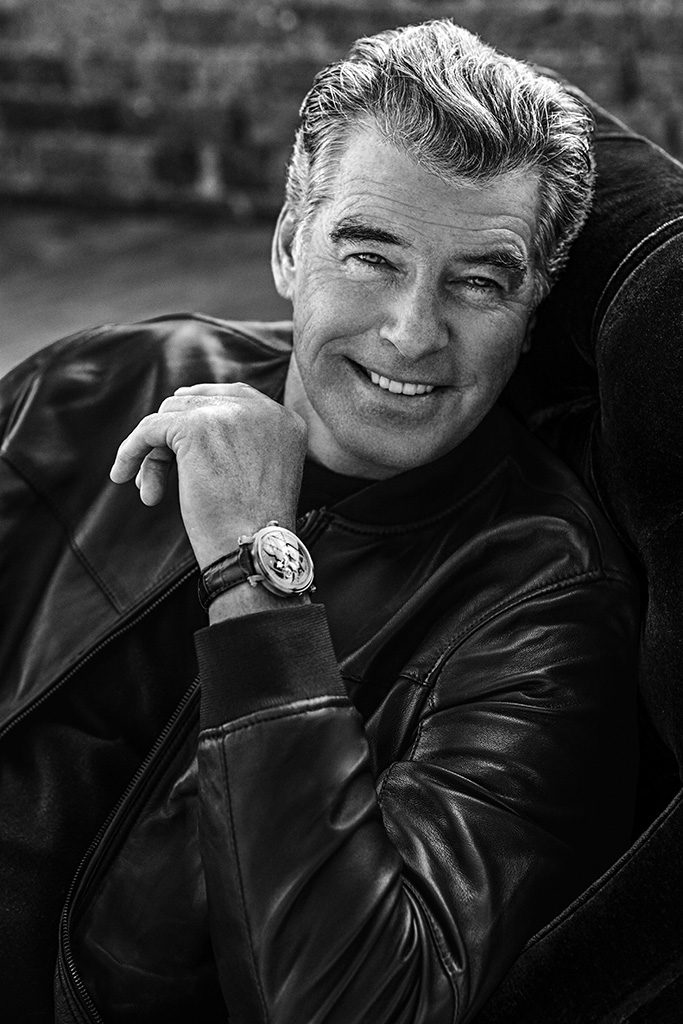 Pierce Brosnan signs again as brand ambassador for Speake-Marin.