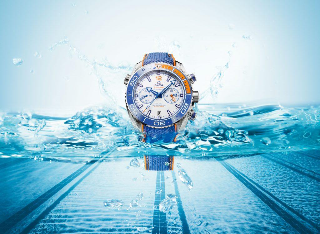 Omega Seamaster Planet Ocean Michael Phelps watch is water resistant to 600 meters.