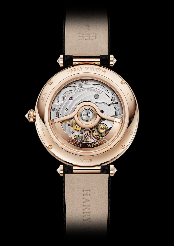 The Premier Harry Winston Year of the Monkey Watch is powered by a 186-part mechanical movement