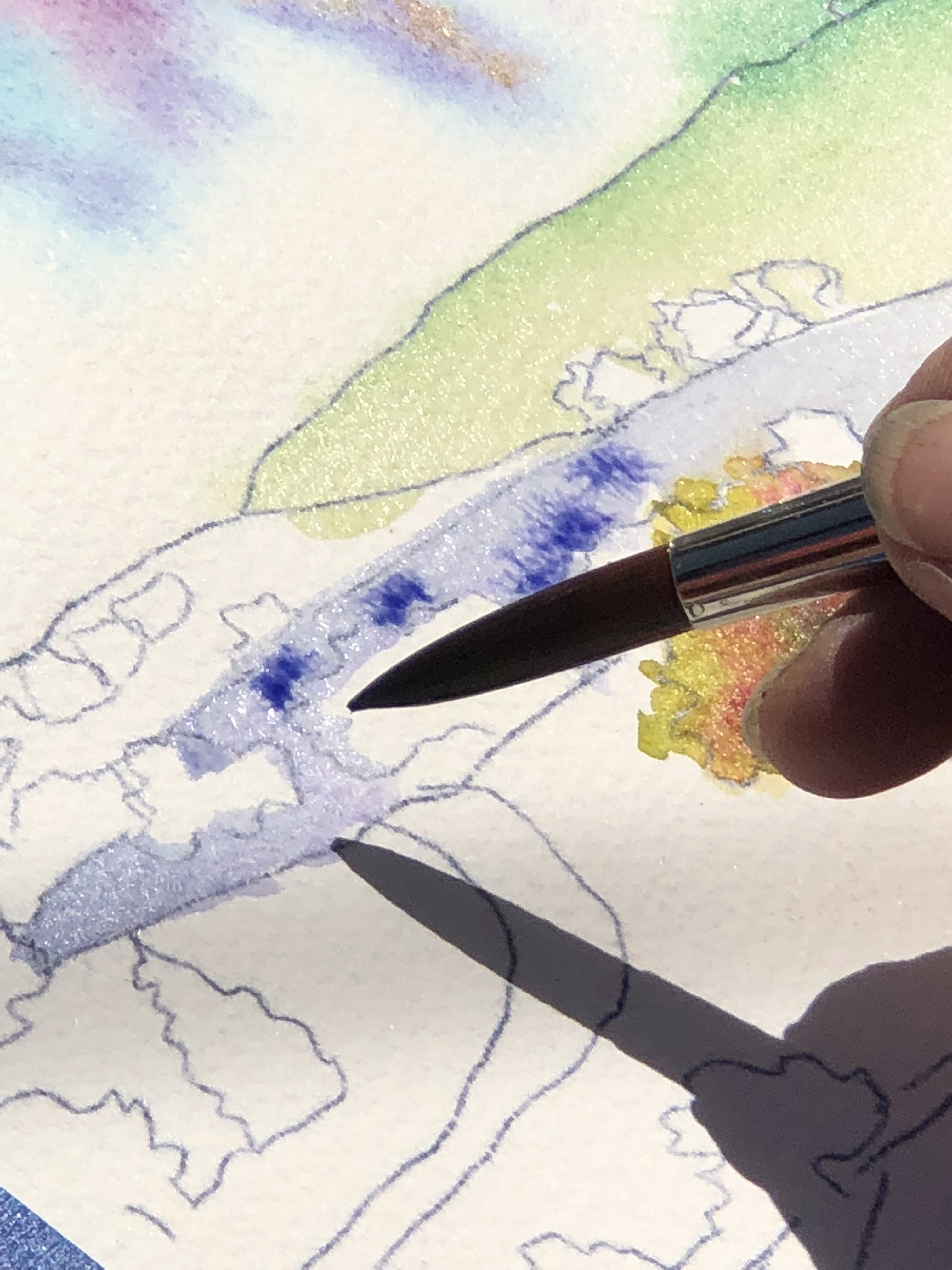 Water-color painting in Napa Valley
