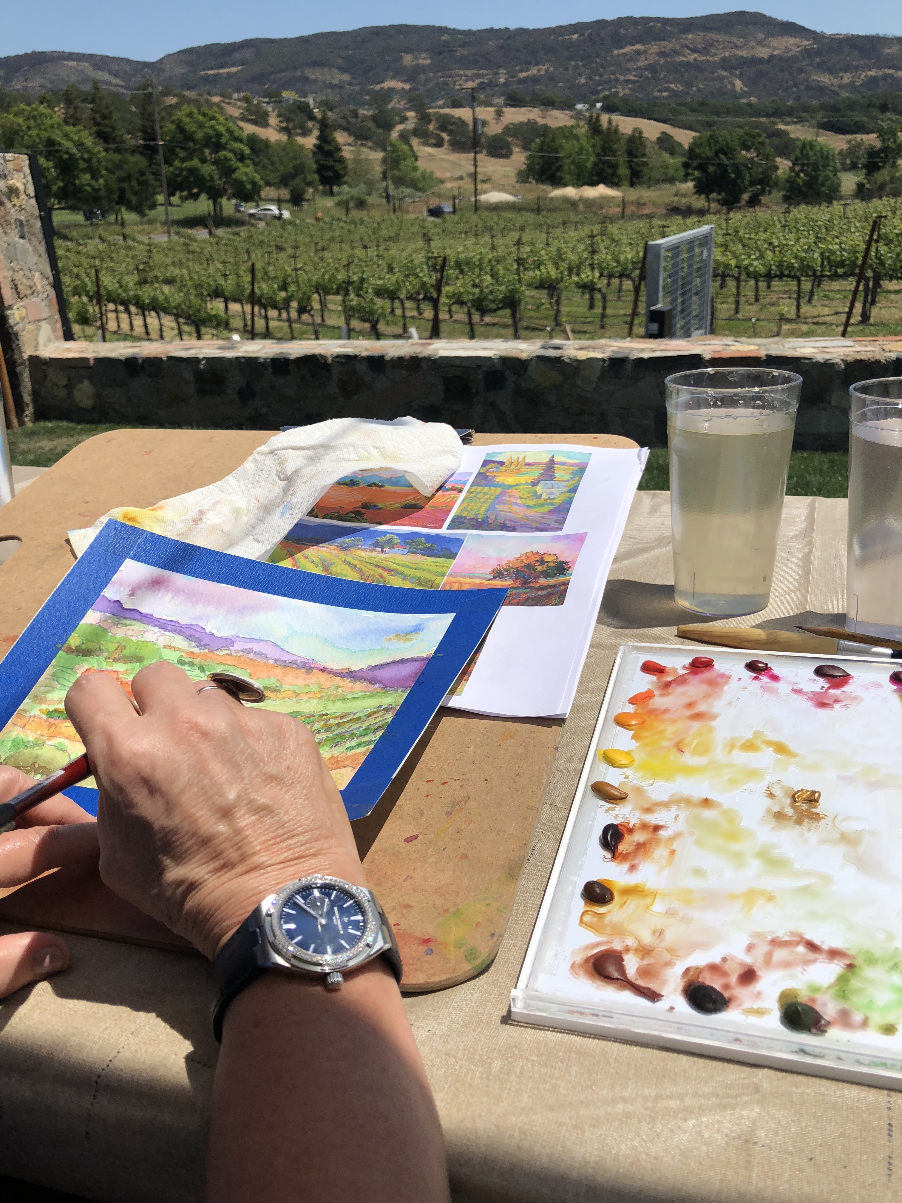 Painting in style with a Vacheron Constantin Overseas watch