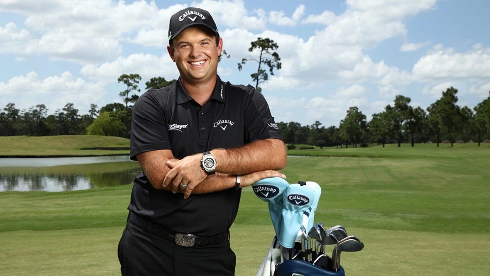 Patrick Reed at the announcement of his joining the Hublot roster of golfers.