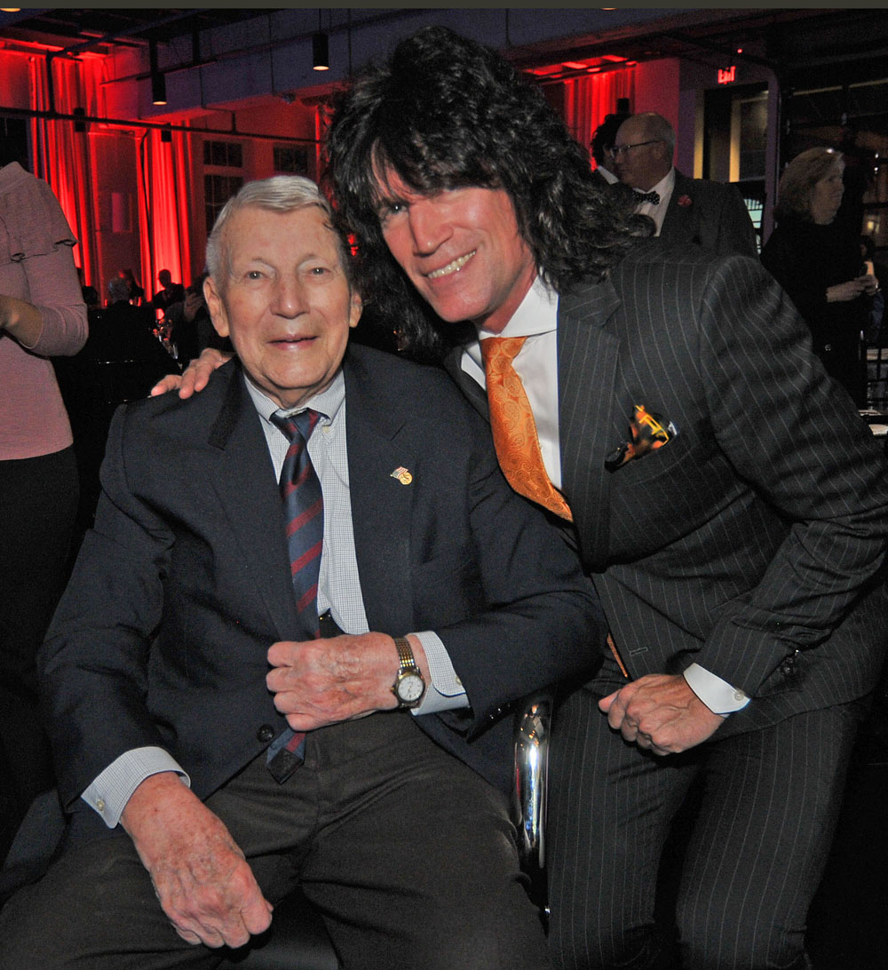 Tommy Thayer with his father, retired Brigadier General James B. Thayer (photo Vern Uyetake)