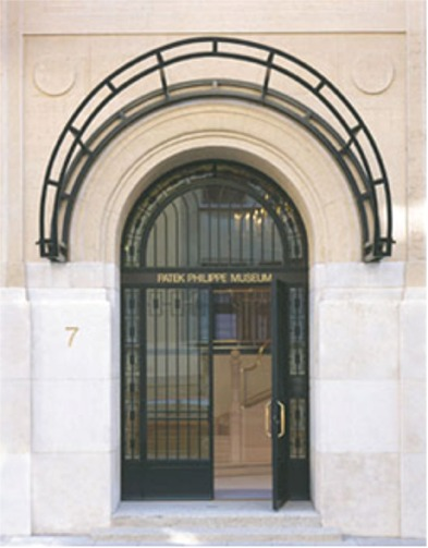 Entrance to the Patek Philippe Museum in Geneva.