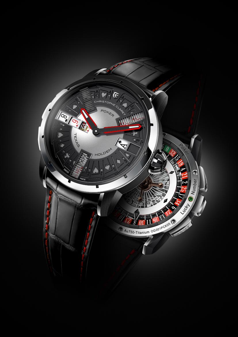 Christophe Claret unveils the POKER watch - shown here in 18-karat white gold.
