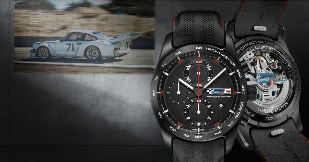 Porsche Design Chronotimer Rennsport Reunion VI Limited Edition watch.