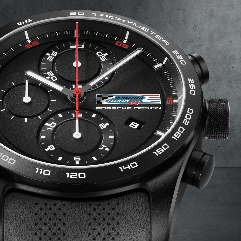 Porsche Design Chronotimer Rennsport Reunion VI Limited Edition watch is a chronograph with tachymeter bezel.