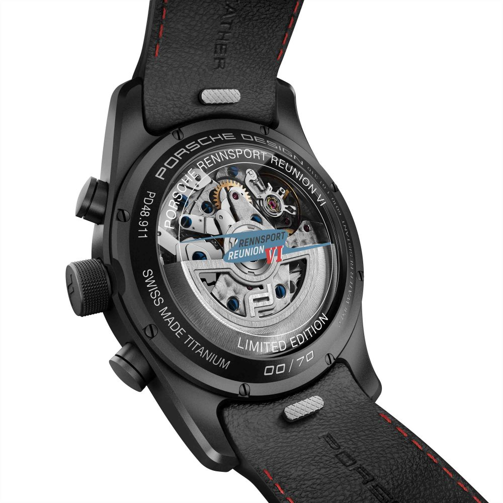Porsche Design Chronotimer Rennsport Reunion VI Limited Edition watch celebrates 70 years of Porsche.