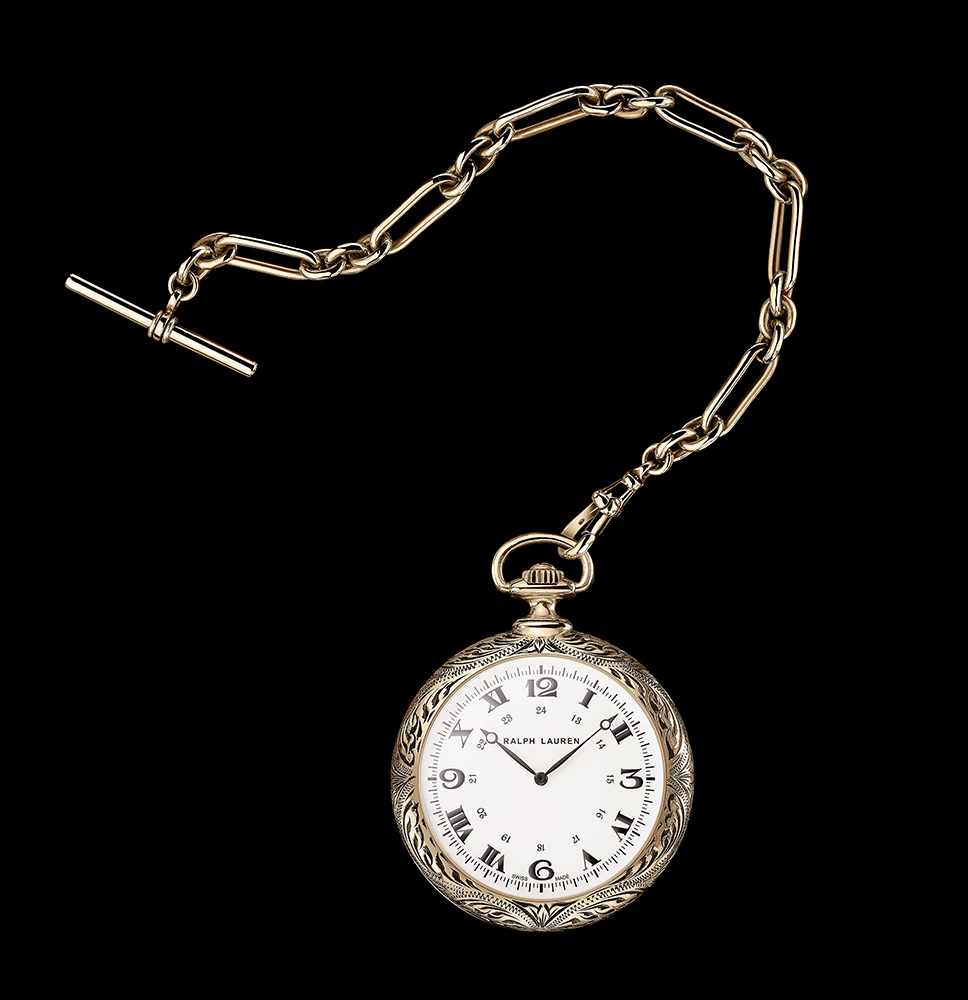 Ralph Lauren Western Collection Pocket Watch in rose gold