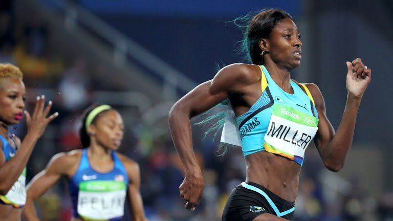 Miller at Rio 2016 Olympics in the 400M finals