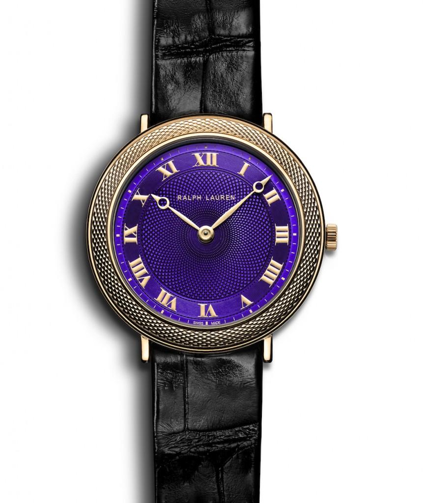Ralph Lauren Slim Classique with translucent purple lacquer dial