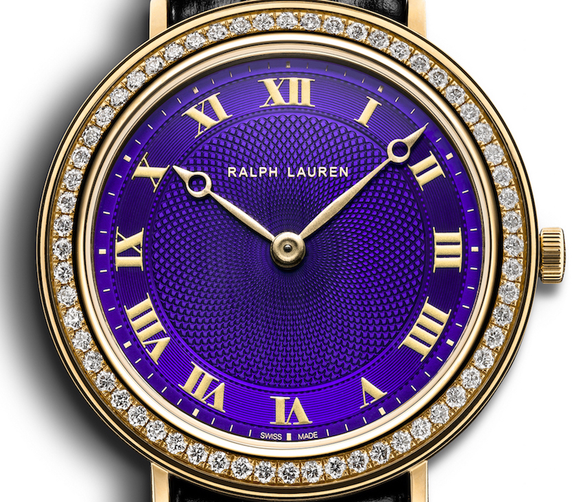 The dial is enhanced with a barleycorn guilloche decor