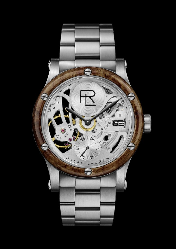 Ralph Lauren Automotive Skeleton Steel 45mm steel bracelet watch.