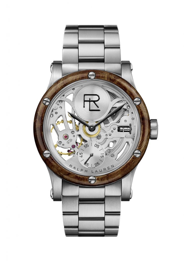 Ralph Lauren Automotive 45mm Skeleton Steel bracelet watch unveiled at Watches & Wonders Miami.