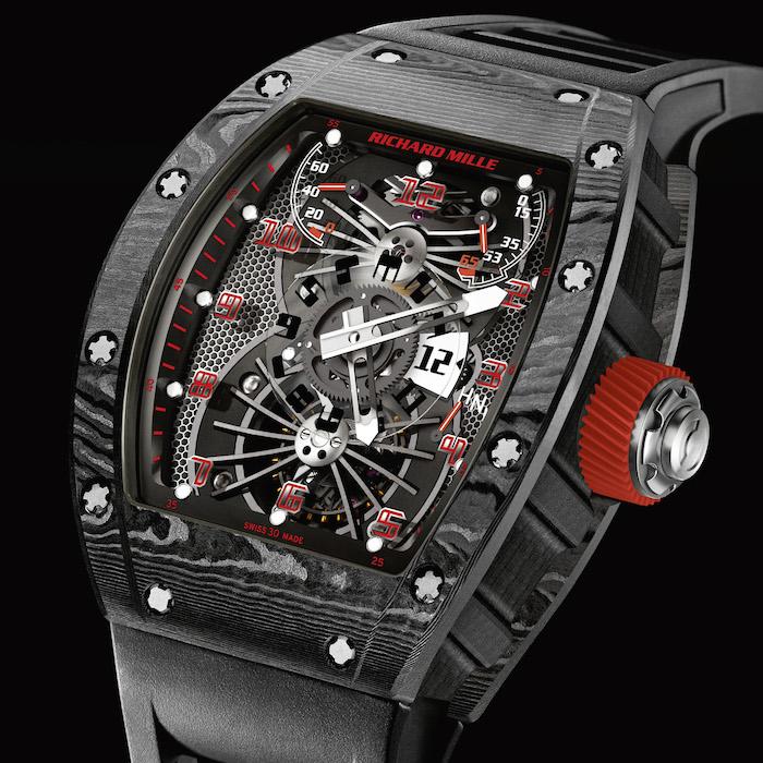 Richard Mille's RM 022 Tourbillon Aerodyne Dual Time Black Carbon
